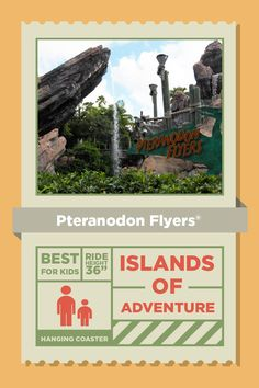 Kids of all ages will enjoy the prehistoric bird's-eye-view of Jurassic Park as they soar through the air on the Pteranodon Flyers®. Universal Orlando Vacations, Universal Parks, Universal Studios Florida, Orlando Resorts, Camping Places, Camping World, Family Vacation Destinations, Florida Vacation, Florida Holiday
