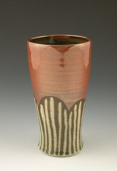 Beer Mug Pint Pottery Tumbler in Iron Red with by AAslaksonPottery, $28.00  I really like the shape of this piece.