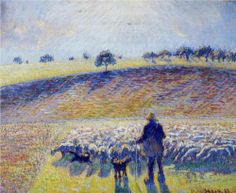 Shepherd and Sheep, 1888, Camille Pissarro