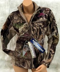 NEW! Women's Mossy Oak Camo Pink Softshell Insulated Windproof Jacket S M L XL #MossyOak #BasicJacket