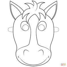 Free Printable Horse Mask Coloring Pages and others free printable coloring pages for kids and adults! Horse Coloring Pages, Coloring Books, Animal Masks For Kids, Farm Animal Crafts, Horse Mask, Animal Templates, Free Horses, Creative Activities For Kids, Free Printable Coloring Pages