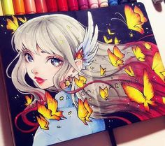 """Wind and fire""  By: ladowska.deviantart"