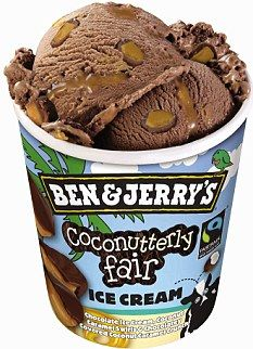 Coconutterly Fair: Chocolate ice cream, coconut caramel swirls and chocolatey covered caramel crunch. Ice Cream Tubs, Ice Cream Day, Ice Cream Flavors List, Ice Cream Recipes, Ben Und Jerry, Candy Recipes, Snack Recipes, Snacks, Chocolates