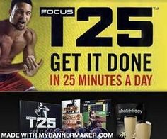 http://www.teambeachbody.com/redfreak Get fit, get healthy, get it done in 25 minutes a day!