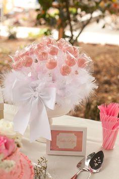 Adorable Pink Baby Shower by Ashley from Shimer Even Design via www.babyshowerideas4u.com #babyshowerideas4u