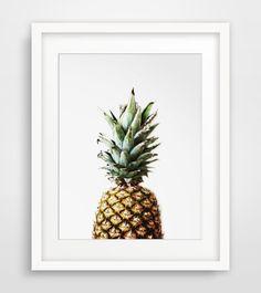 Printable Artwork Digital Prints Modern Wall by MelindaWoodDesigns Pineapple Pictures, Pineapple Art, Summer Prints, Tropical Decor, Summer Art, Frames On Wall, Wood Frames, Modern Wall Art, Framed Artwork