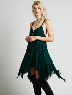 Free People Tattered Up Shred Slip at Free People Clothing Boutique