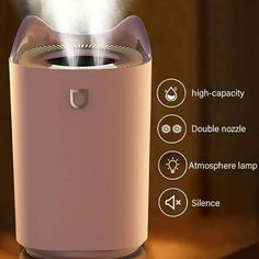 Limited stock available Dual Mist Aroma Diffuser USB Air | Etsy Humidifier Essential Oils, Essential Oil Diffuser, Humidifiers, Air Humidifier, Aroma Diffuser, Diffusers, Mists, Usb, Humidifier