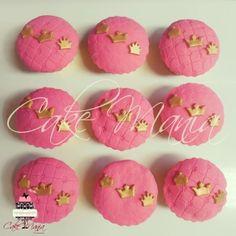 Cupcakes Princess  #cupcake #princess #tematic #chadebebê #pink #golden #crown