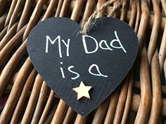 Wooden Gift Heart My Dad Is A Star Christmas Birthday Birthday Gift For Him, Unique Birthday Gifts, Boy Birthday, Happy Birthday, Wooden Gifts, Christmas Birthday, Wall Plaques, As You Like, Gifts For Him