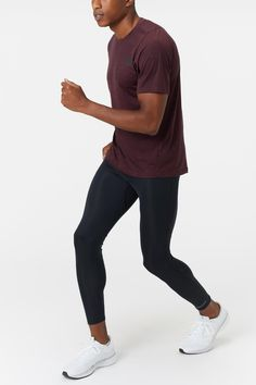 The adidas Men's Fall Freelift Prime Heather Tee will get you through your next run or workout.  A dropped rear hem and soft heathered fabric makes this crew neck a no-brainer. - Shop with Free Shipping and Free Returns at Running Warehouse! - #run #running #runner #motivation #habit #goals #training #workout #health #fitness #footwear #shoes #jog #walk #nike #newbalance #hoka #altra #brooks #adidas #marathon #athletic #exercise #style #fashion #outfit #clothes #gym #sneakers Running Gear, Running Shirts, Footwear Shoes, Mens Fall, Striped Tee, A Good Man, Adidas Men, Style Fashion, Black Jeans