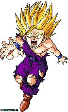 Super Saiyan 2 Teen Gohan by BrusselTheSaiyan Goku Drawing, Ball Drawing, Dragon Z, Dragon Ball Gt, Ssj2, Akira, Dbz Drawings, Dbz Characters, Illustration