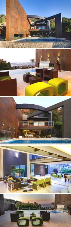 Johannesburg-based design studio Nico van der Meulen Architects have completed the 'House The' project. Built in 2012, this contemporary home is in South Africa
