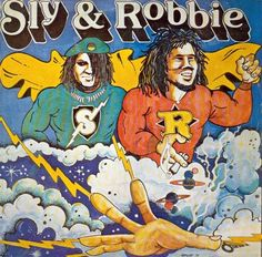 'Disco Dub' by Sly & Robbie was first released in 1978 on Gorgon Records and it came with a glorious cover that pictured Sly & Robbie as super-humans, high above the clouds and dwarfing the surrounding planets. More - http://reggaealbumcovers.com/sly-and-robbie-disco-dub-1978/