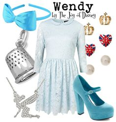 Inspired by Wendy Darling from Peter Pan!  --  #fashion #disney #wendy