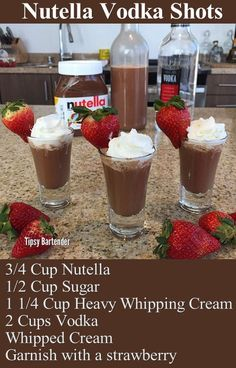 Nutella Vodka Shots Recipe drinks nutella recipe recipes drink recipes alcohol recipes