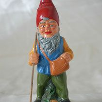 Heissner Gnome with walking stick, 1950, for sale
