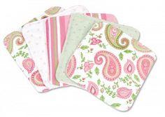 Paisley Baby Wash Cloth Set