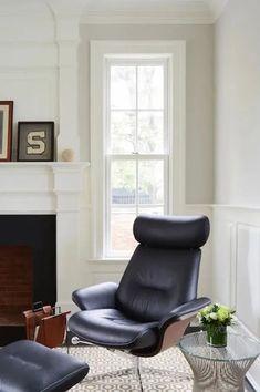 home office with Benjamin Moore Balboa Mist