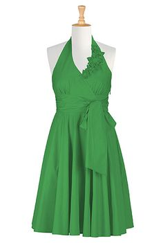 #Green #Bridesmaids #Dress, #eShakti