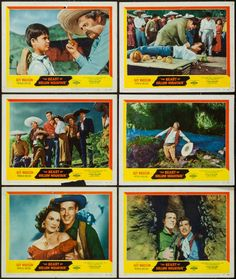 """The Beast of Hollow Mountain (United Artists, 1956). Lobby Cards (10) (11"""" X 14""""). Science Fiction. Starring Guy Madison, Patricia Medina, Carlos Rivas, Mario Navarro, Pascual García Peña, Eduardo Noriega, Julio Villarreal, and Lupe Carriles. Directed by Edward Nassour and Ismael Rodriguez."""
