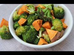 Roasted Broccoli and Sweet Potatoes Recipe  ADDICTIVE!! | Divas Can Cook