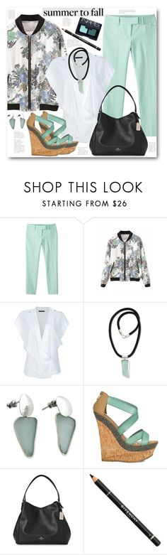 """""""Summer to Fall Layering"""" by brendariley-1 ❤ liked on Polyvore featuring Mossimo, Anthony Vaccarello, NOVICA, JustFab, Coach, Givenchy, NARS Cosmetics, layering and summertofall"""
