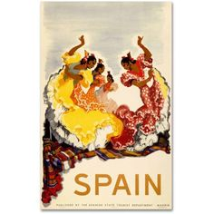 Trademark Fine Art Spain, Women Dancing Canvas Art, Size: 30 x 47, Multicolor