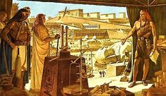 """Arnold Friberg, artist, created this painting based on """"The 10 Commandments"""""""