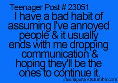 seems to be the cause of all my failed friendships/relationships. Love Me Quotes, Fact Quotes, Funny Quotes, Qoutes, Teen Posts, Teenager Posts, Funny Text Posts, Types Of Humor, Worth Quotes