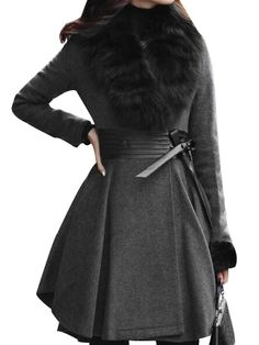 Designed Lapel Plain Overcoat With Belt Overcoats from fashionmia.com