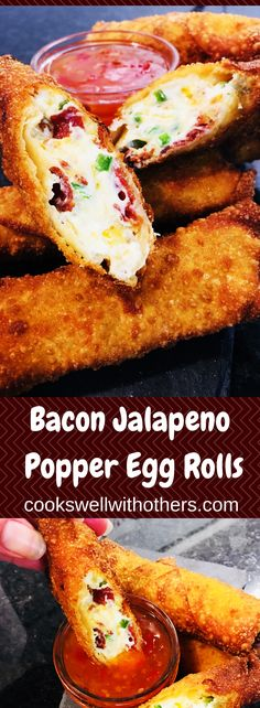 Bacon Jalapeno Egg Rolls #yummy