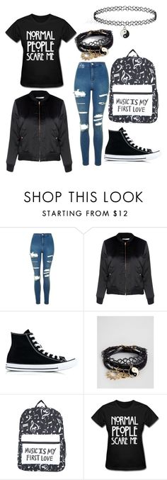 """Untitled #36"" by evalia1291 on Polyvore featuring Topshop, Glamorous, Converse and ASOS"