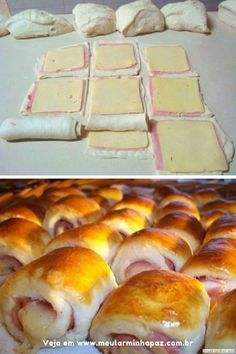 Easy Cake Recipes - New ideas Fancy Dinner Recipes, Good Food, Yummy Food, Puff Pastry Recipes, Portuguese Recipes, Yummy Appetizers, Easy Snacks, Food Menu, Creative Food
