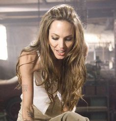 Angelina Jolie. Scene from 'Wanted.' I loved her hair in this movie.
