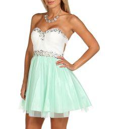 Addaley-mint Homecoming Dress