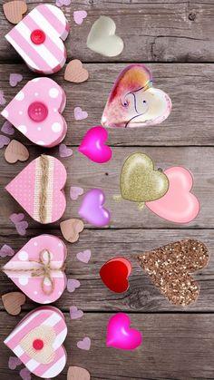 Beautiful Wallpaper, Heart Wallpaper, Wallpaper Backgrounds, Iphone Wallpaper, School Hair, Hairstyles For School, Love Heart, Cartoons, Sticker
