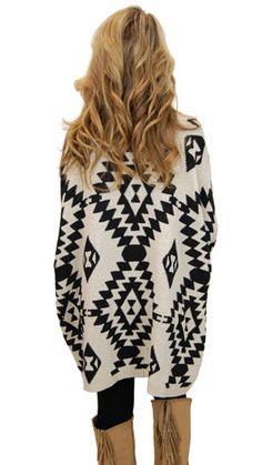 aztec oversized sweater..cute & comfy.