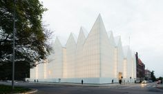 """And the winner of this year's """"Mies van der Rohe Award"""" is…: the Philharmonic Hall in Szczecin, Poland, designed by Barozzi Veiga. First prize in the """"Emerging Architect"""" category goes to Arquitectura-G for its """"Casa Luz"""" in Cilleros, Spain. Architecture Cool, Cabinet D Architecture, Architecture Awards, Contemporary Architecture, Concert Hall Architecture, Architecture Magazines, Landscape Architecture, Glass Building, Green Building"""