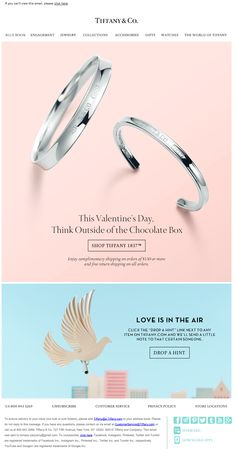 Valentine's Day by Tiffany & CO. More Inspiring newsletters: http://freshmail.com/inspiring-newsletters