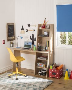 Most Popular Study Table Designs and Children's Chairs Today Home Room Design, Home Office Design, Home Office Decor, Home Interior Design, Home Decor, Study Room Decor, Teen Room Decor, Diy Room Decor, Bedroom Decor
