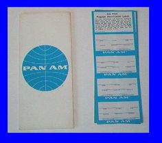 A Pan Am ticket jacket & luggage address stickers from the 1960s
