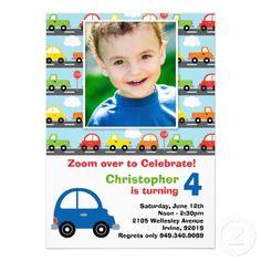 Cars Birthday Invitation Birthday Party Pinterest Cars