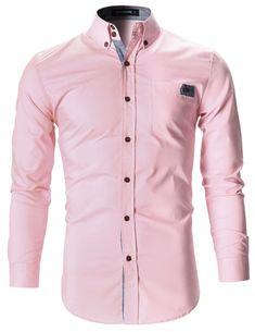 Designer Clothes, Shoes & Bags for Women Slim Fit Dress Shirts, Slim Fit Dresses, Fitted Dress Shirts, Shirt Dress, Mens Pink Dress Shirt, Sharp Dressed Man, Well Dressed Men, Formal Attire For Men, Corsage