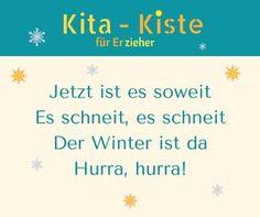 """1.Strophe des Winterliedes """"Der Winter ist da - hurra"""" - Hörprobe auf www.kitakiste.jimdo.com Christmas And New Year, Winter Christmas, Thema Winter Im Kindergarten, 3 Year Olds, Winter Activities, Winter Wonderland, Einstein, Kids, Advent"""