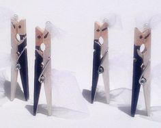 Popular items for wedding clothespins on Etsy