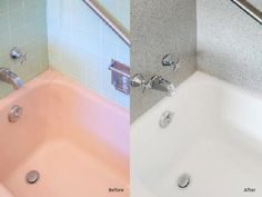 Paint older bathtubs.