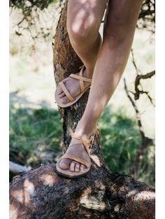 Mockies Greek Sandals Natural