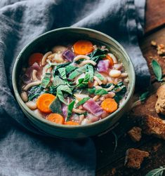 Minestrone soup with