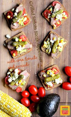 Grilled Sirloin Steak with Tomato Corn Avocado Appetizer - perfect recipe when you are entertaining a crowd #SundaySupper #GrillTalk